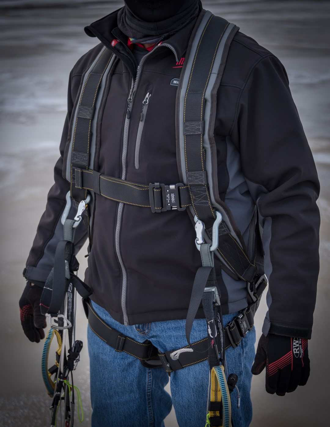 Kiting Harness For Paramotor Powered Paragliding Without